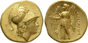 KINGS OF MACEDON. Alexander III 'the Great' (336-323 BC). GOLD Stater. Uncertain mint in Macedon.