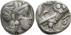 ATTICA. Athens. Tetradrachm (353-294 BC). Contemporary imitation. 