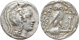 ATTICA. Athens. Tetradrachm (133-132 or 101-100 BC). New Style Coinage. Damon, Sosikrates and Nicono, magistrates. 