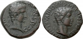 CRETE. Cnossus. Caligula with Germanicus (37-41). Ae. Dossennus Pulcher, duoviri. 