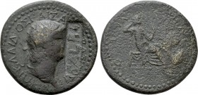 BITHYNIA. Nicaea. Nero with Poppaea (54-68). Ae. 