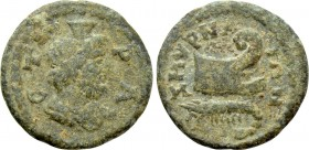 IONIA. Smyrna. Pseudo-autonomous. Time of Septimius Severus (193-211). Ae. Stra-, magistrate. 