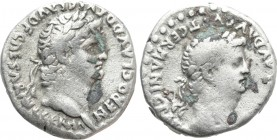 CAPPADOCIA. Caesarea. Nero with Divus Claudius (54-68). Drachm. 