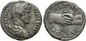 EGYPT. Alexandria. Hadrian (117-138). BI Tetradrachm. Dated RY 12 (AD 127/8). 