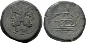 ANONYMOUS. As (169-158 BC). Rome. 