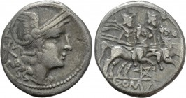 ANONYMOUS. Denarius (206-200 BC). Uncertain mint. 