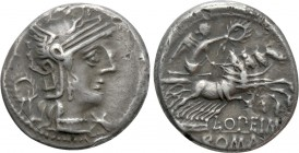 L. OPIMIUS. Denarius (131 BC). Rome. 