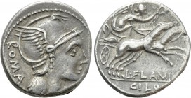 L. FLAMINIUS CHILO. Denarius (109-108 BC). Rome. 