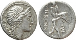 M. HERENNIUS. Denarius (108-107 BC). Rome. 