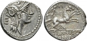 D. SILANUS L.F. Denarius (91 BC). Rome. 