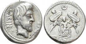 L. TITURIUS L.F. SABINUS. Denarius (89 BC). Rome. 