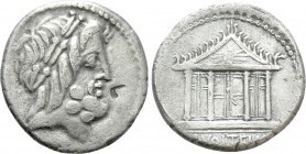 M. VOLTEIUS M.F. Denarius (75 BC). Rome. 