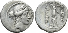C. MEMMIUS C.F. Denarius (56 BC). Rome. 