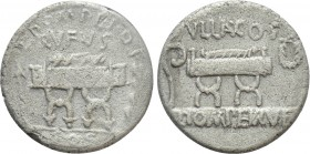 Q. POMPEIUS RUFUS. Denarius (54 BC). Rome. 