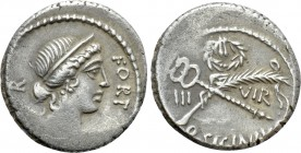 Q. SICINIUS. Denarius (49 BC). Rome. 
