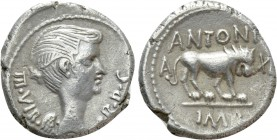 MARK ANTONY. Quinarius (42 BC). Lugdunum.