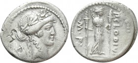 P. CLODIUS M.F. TURRINUS. Denarius (42 BC). Rome. 