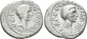 LEPIDUS and OCTAVIAN. Denarius (43 BC). Military mint traveling with Lepidus in Italy. 