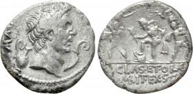 SEXTUS POMPEIUS MAGNUS PIUS. Denarius (37/6 BC). Uncertain Sicilian mint. 