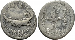 MARK ANTONY. Denarius (32-31 BC). Patrae(?). 