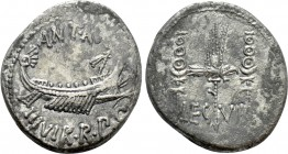 MARK ANTONY. Denarius (32-31 BC). Patrae(?). Legionary issue. 
