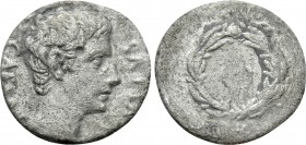 AUGUSTUS (27 BC-14 AD). Denarius. Uncertain mint in Spain, possibly Colonia Caesaraugusta. 