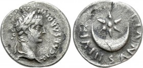 TIBERIUS (14-37). Denarius. Rome. P. Petronius Turpilianus, moneyer. 
