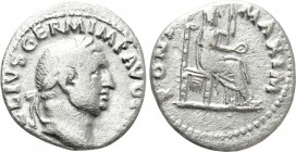 VITELLIUS (69). Denarius. Rome. 