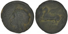 Sicily, Syracuse. Timoleon and the Third Democracy. 344-317 BC. Æ (19mm, 4.86 g, 9h). Laureate head of Apollo left / Pegasus flying left. CNS 85; HGC ...