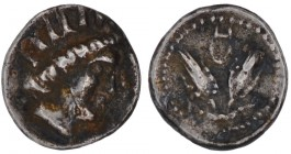Islands of Caria, Rhodos. Circa. 275-250 BC. AR Diobol (9mm, 0.80g, 12h). Radiate head of Helios right / Two rose buds; above CE. SNG Copenhagen 744 v...