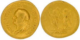 Vespasian, 69-79. AU Aureus (19mm, 6.88g, 6h), Rome, 77-78. IMP CAESAR VESPASIANVS AVG Laureate head of Vespasian to left. Rev. COS VIII Vespasian, in...