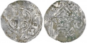 Czech Republic. Bohemia. Boleslav I. 929-967. AR Denar (19mm, 1.05g). Prague mint. [BOLEZL]ΛAVD[LX•], cross with one pellet in three angles and one an...
