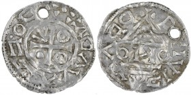 Czech Republic. Bohemia. Boleslav II. 967-999. AR Denar (19mm, 0.84g). Prague mint. +BOLⵎZLAVDV+, cross with one annulet in two angles, one pellet in ...