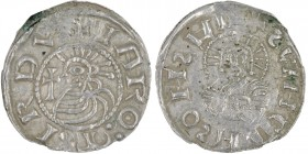 Czech Republic. Bohemia. Jaromir, 1003, 1004 - 1012, 1033 - 1034. AR Denar (19mm, 0.88g). Prague mint. +IΛROMIRDV, bust left, in front cross / +SCHCDH...