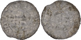 Denmark. Harthacnut 1035-1042. AR penning (18mm, 0.70g). Aalborg mint, Alfric moneyer. +HARD[ACN]VT[__], small cross in inner circle / + [A]L[F]RIC ON...