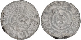 England. Aethelred II. 978-1016. AR Penny (19mm, 1.26 g, 9h). Last Small Cross type (BMC i, Hild. A). Winchester mint; moneyer Eadwine. Struck circa 1...