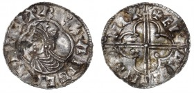 England. Cnut the Great, 1016-1035. AR penny (17mm, 0.75g, 12h). Quatrefoil type (BMC viii, Hild. E), Cricklade mint; moneyer Ælfwine. Struck circa 10...