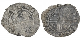 England. Cnut the Great. 1016-1035. AR Penny (18mm, 1.14 g, 9h). Pointed Helmet type (BMC xiv, Hild. G). Uncertain mint; moneyer Godwine. Struck circa...