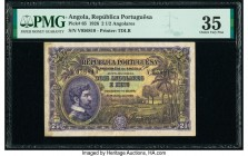 Angola Republica Portuguesa 2 1/2 Angolares 14.8.1926 Pick 65 PMG Choice Very Fine 35. Previously mounted.  HID09801242017  © 2020 Heritage Auctions |...