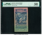 Austria Austrian National Bank 10 Schilling 1927 Pick 94 PMG About Uncirculated 50. Foreign substance.  HID09801242017  © 2020 Heritage Auctions | All...
