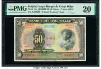 Belgian Congo Banque du Congo Belge 50 Francs ND (1941-42) Pick 16a PMG Very Fine 20. Repaired.   HID09801242017  © 2020 Heritage Auctions | All Right...