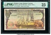 Belgian Congo Banque Centrale du Congo Belge 500 Francs 1.10.1957 Pick 34 PMG Very Fine 25. Rust.  HID09801242017  © 2020 Heritage Auctions | All Righ...
