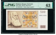Belgium Nationale Bank Van Belgie 500 Francs 12.5.1952 Pick 130a PMG Choice Uncirculated 63.   HID09801242017  © 2020 Heritage Auctions | All Rights R...