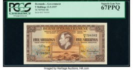 Bermuda Bermuda Government 5 Shillings 12.5.1937 Pick 8b PCGS Currency Superb Gem New 67PPQ.   HID09801242017  © 2020 Heritage Auctions | All Rights R...