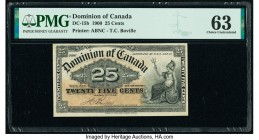 Canada Dominion of Canada 25 Cents 2.1.1900 Pick 9b DC-15b PMG Choice Uncirculated 63. Small tear.  HID09801242017  © 2020 Heritage Auctions | All Rig...