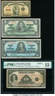 Canada Group of 4 Examples PMG Choice Fine 15; Fine (3).   HID09801242017  © 2020 Heritage Auctions | All Rights Reserved