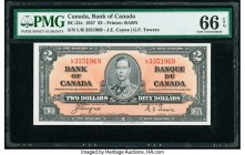 Canada Bank of Canada $2 2.1.1937 Pick 59c BC-22c PMG Gem Uncirculated 66 EPQ.   HID09801242017  © 2020 Heritage Auctions | All Rights Reserved