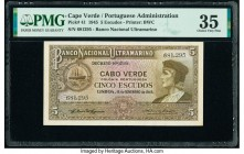 Cape Verde Banco Nacional Ultramarino 5 Escudos 16.11.1945 Pick 41 PMG Choice Very Fine 35.   HID09801242017  © 2020 Heritage Auctions | All Rights Re...
