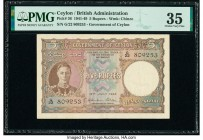 Ceylon Government of Ceylon 5 Rupees 12.7.1944 Pick 36 PMG Choice Very Fine 35.   HID09801242017  © 2020 Heritage Auctions | All Rights Reserved