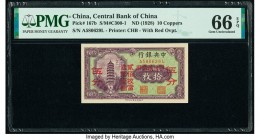 China Central Bank of China 10 Coppers ND (1928) Pick 167b S/M#C300-1 PMG Gem Uncirculated 66 EPQ.   HID09801242017  © 2020 Heritage Auctions | All Ri...